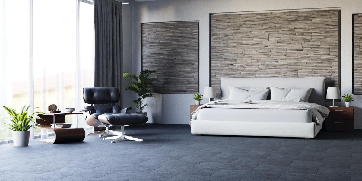 Velourlederboden BLACK Schlafzimmer