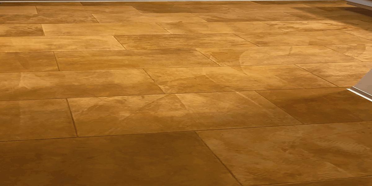 Velour Lederboden Golden Brown Detail
