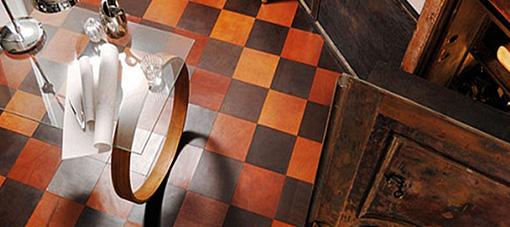 Lederen vloer brown/black